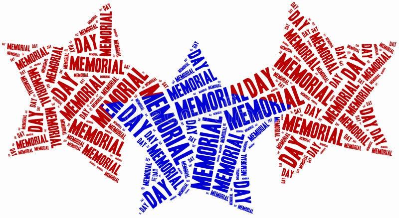 Formułuje obłocznego dzień pamięci odnosić sie w kształcie gwiazdy ilustracji