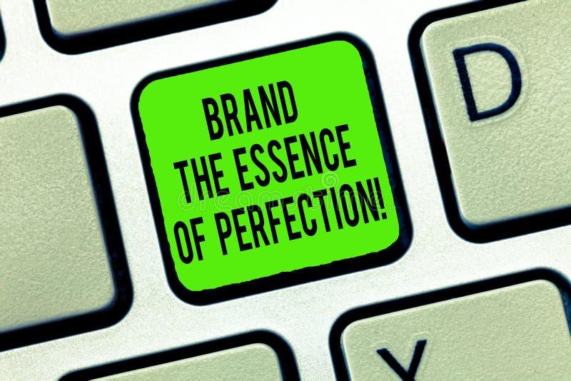 Formułuje pisać teksta gatunkowi esencji doskonałość E zdjęcie stock