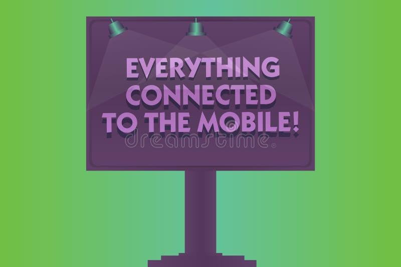 Formułuje pisać tekstowi Everything Łączącym wisząca ozdoba Biznesowy pojęcie wszystko w twój przyrządzie dla Online komunikacji ilustracja wektor