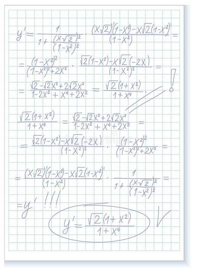 formuły matematycznie ilustracja wektor