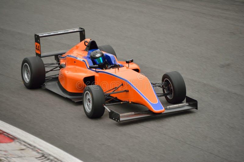 Formuły 4 samochodu test przy Monza fotografia royalty free