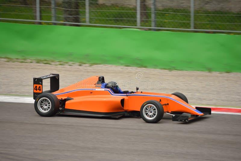 Formuły 4 samochodu test przy Monza zdjęcia royalty free