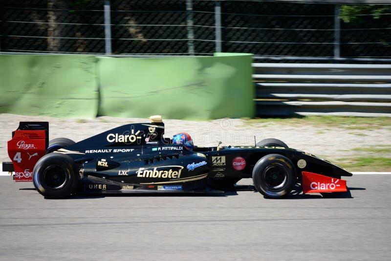 Formuły V8 pilot Pietro Fittipaldi w akci zdjęcia stock