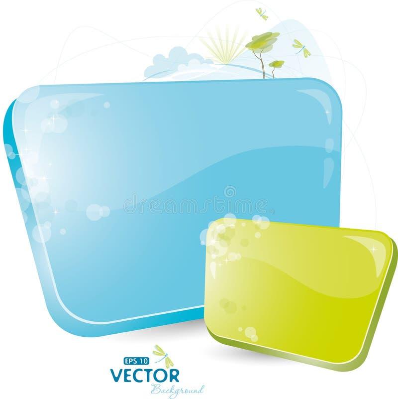 Formulário azul com árvore ilustração do vetor