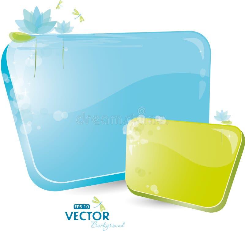 Formulário azul com lírio ilustração stock