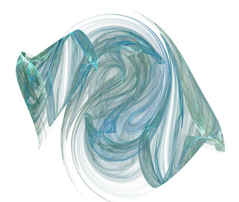 Formulário azul esverdeado do vapor no branco ilustração do vetor