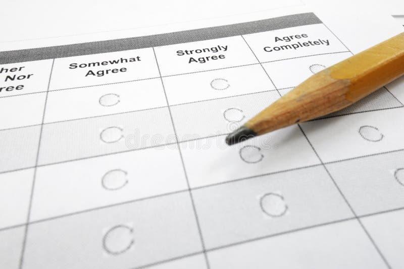 Formulário da avaliação imagens de stock