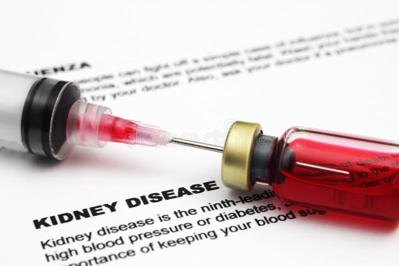 Formulário da doença renal fotografia de stock royalty free