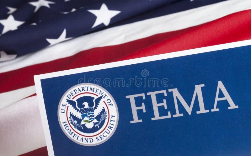 Formulário da segurança interna do FEMA E.U. fotografia de stock