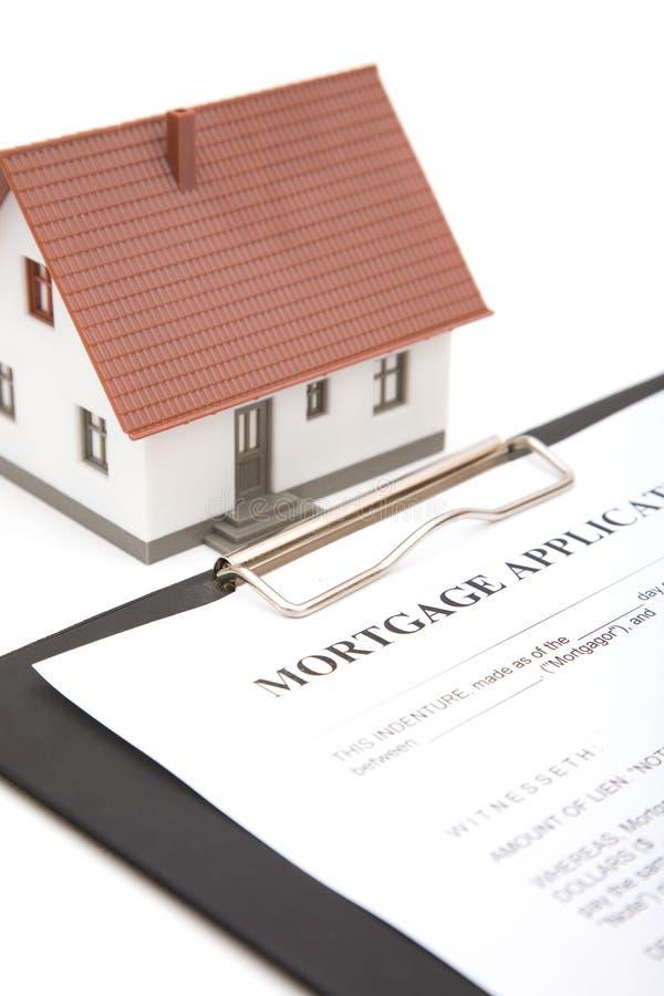 Formulário de aplicação da hipoteca imagem de stock royalty free