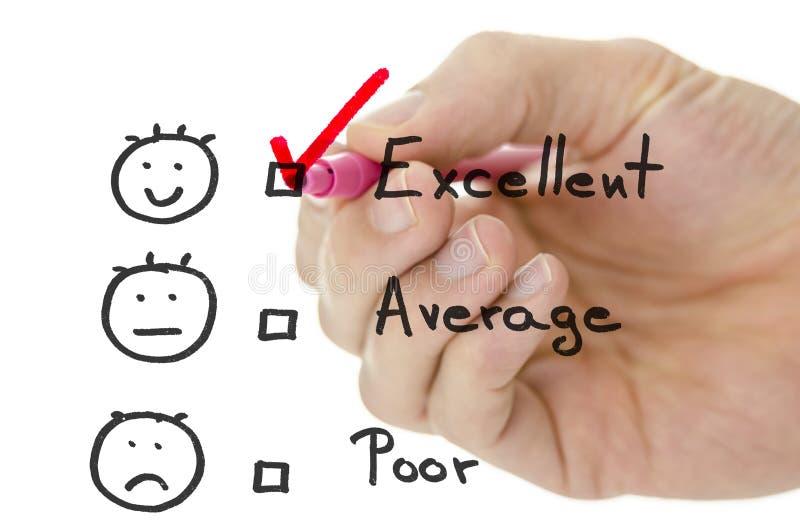 Formulário de avaliação do serviço ao cliente imagens de stock royalty free