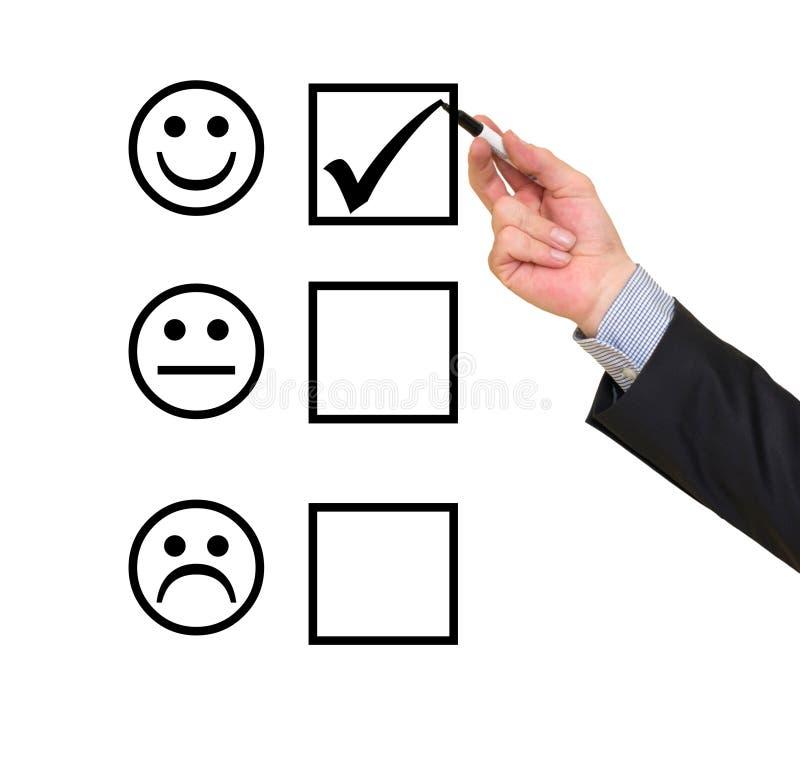Formulário de avaliação do serviço ao cliente fotografia de stock