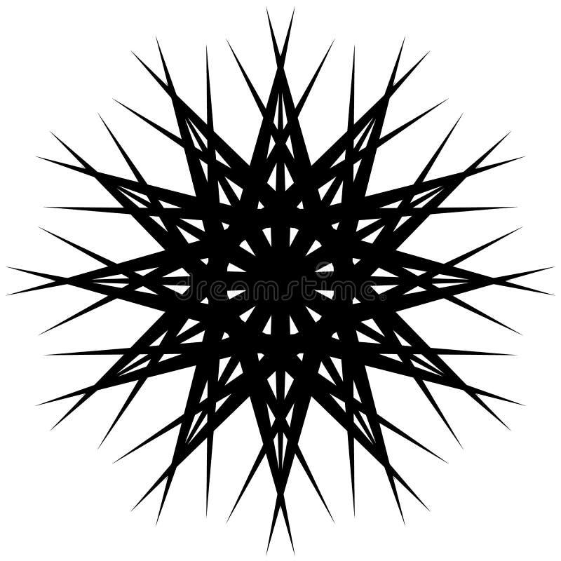 Formulário de giro geométrico Ilustração Editable do vetor ilustração royalty free