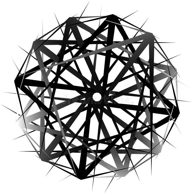 Formulário de giro geométrico Ilustração Editable do vetor ilustração stock