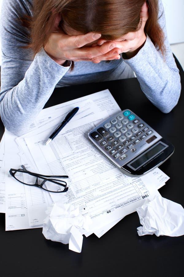 Formulário de imposto imagens de stock