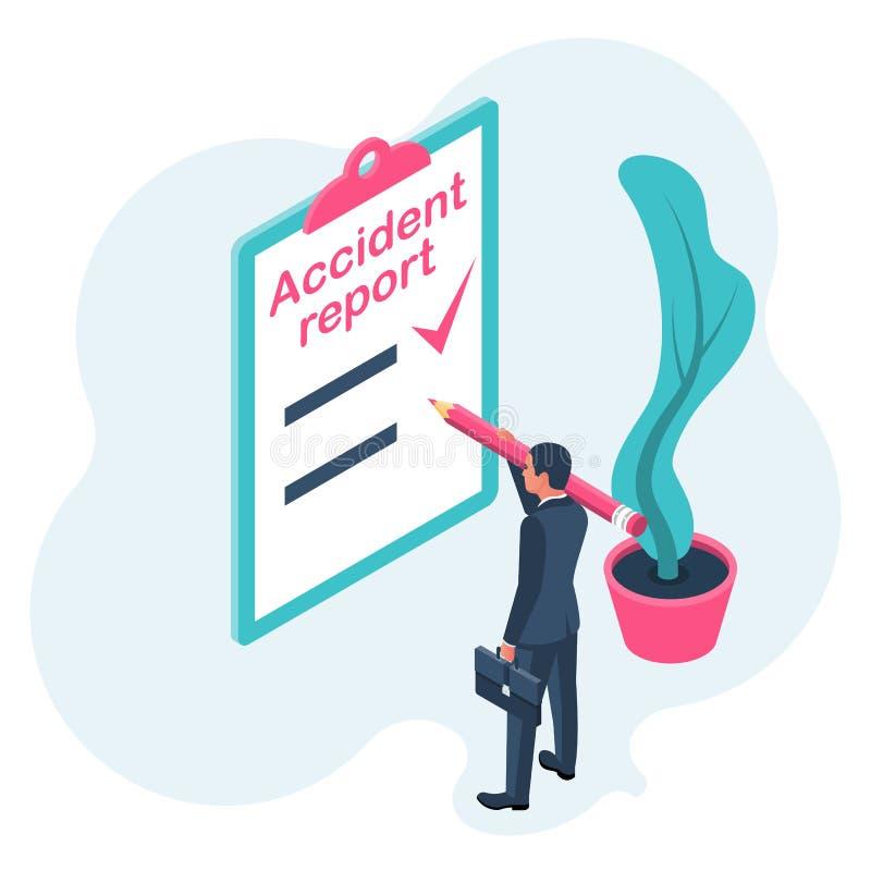 Formulário de relatório do acidente ilustração royalty free