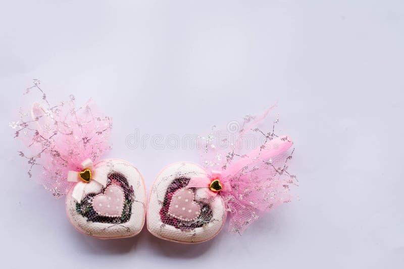 Formulário do coração do presente de casamento para o convidado imagem de stock