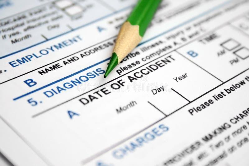 Formulário do diagnóstico imagens de stock
