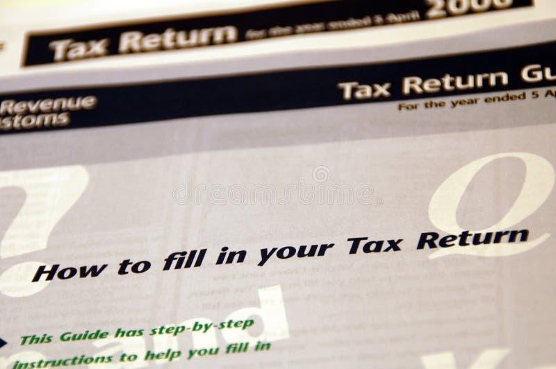 Formulário do retorno de imposto fotos de stock royalty free