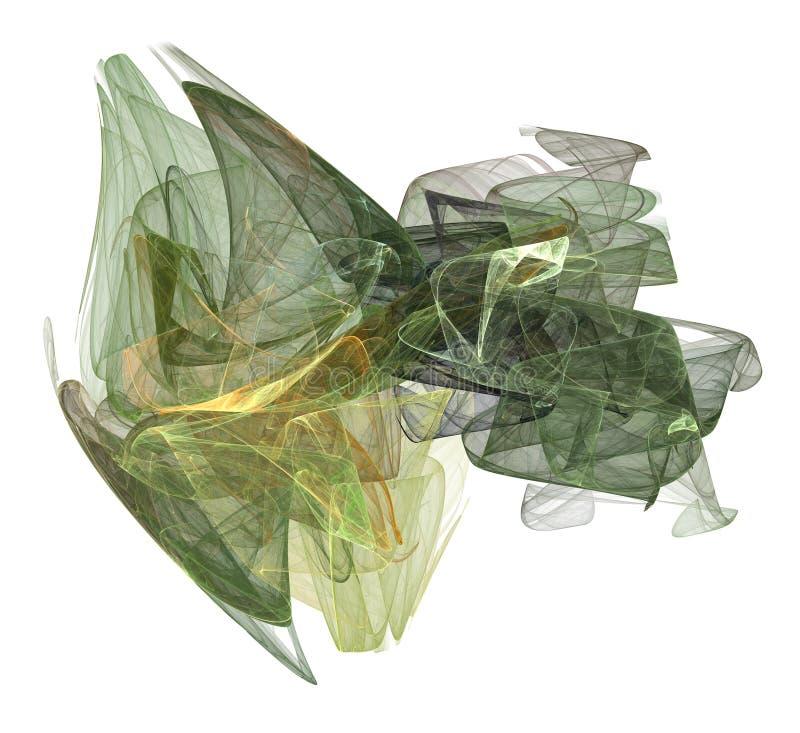 Formulário do vapor do tom da terra verde no branco ilustração stock