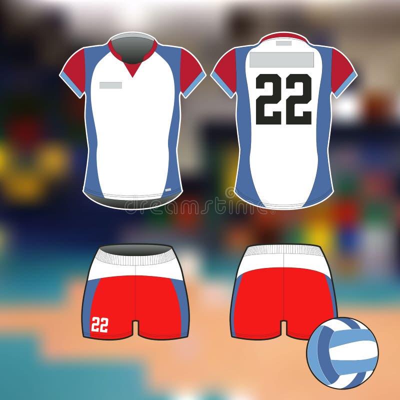 Formulário dos esportes profissionais para o voleibol Imagem isolada fotografia de stock royalty free