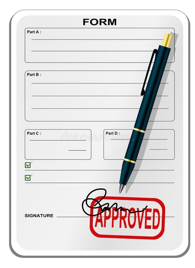 Formulário em branco ilustração do vetor