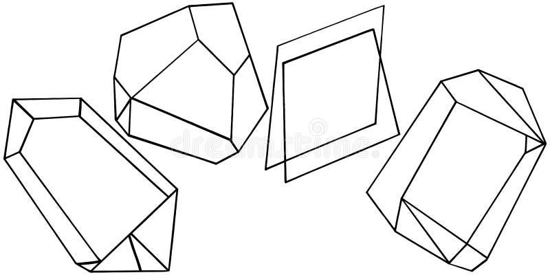 Formulário geométrico do vetor Elemento isolado da ilustração Forma do mosaico ilustração stock