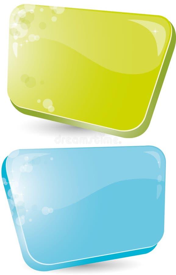 Formulário verde e azul ilustração royalty free