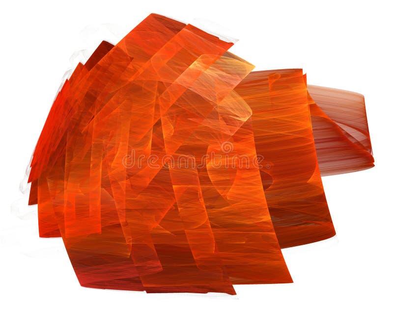 Formulário vermelho pintado da fita no branco ilustração stock