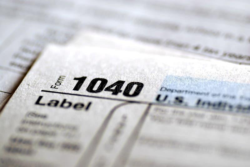 Formulários de imposto 2009 imagens de stock royalty free