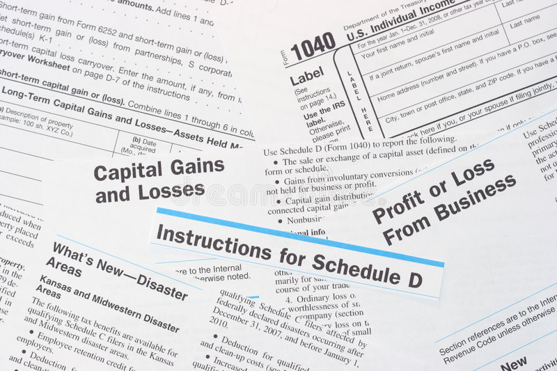 Formulários De Imposto Da Renda Federal Do IRS Imagem de Stock