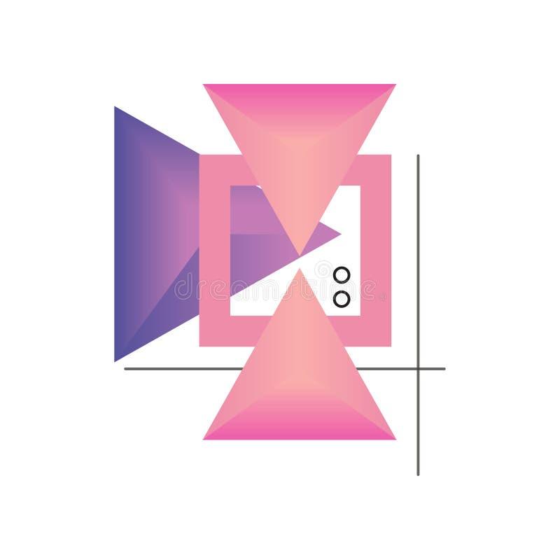 Formulários geométricos do inclinação abstrato em cores cor-de-rosa e roxas, projeto para a etiqueta, apresentação, cartaz, bande ilustração royalty free