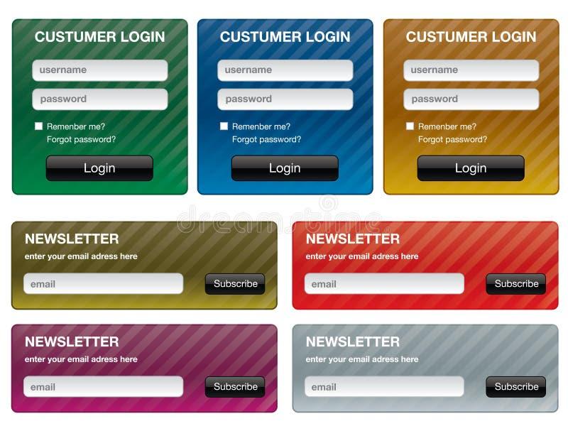 Formulários para o Web site foto de stock royalty free