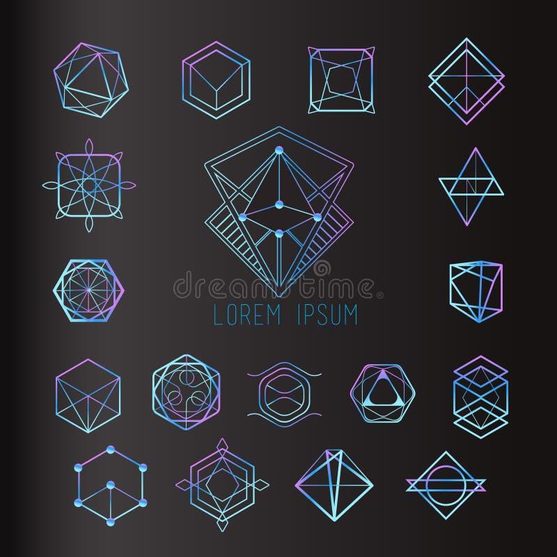 Formulários sagrados da geometria ilustração do vetor