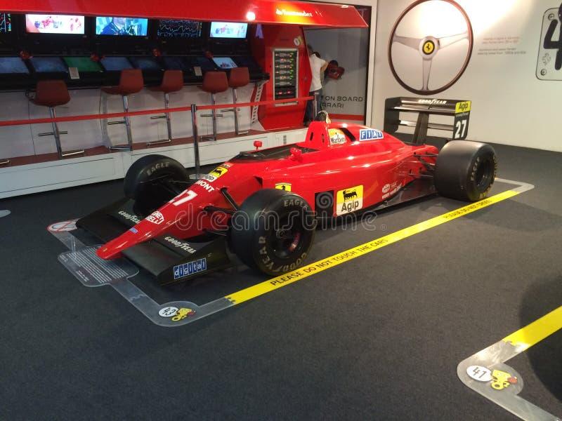 Formula1汽车肌肉汽车法拉利马拉内洛意大利muséum 图库摄影