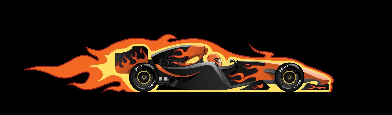 Download Formula 1 stock vector. Image of fire, burn, heat, burning - 9691449