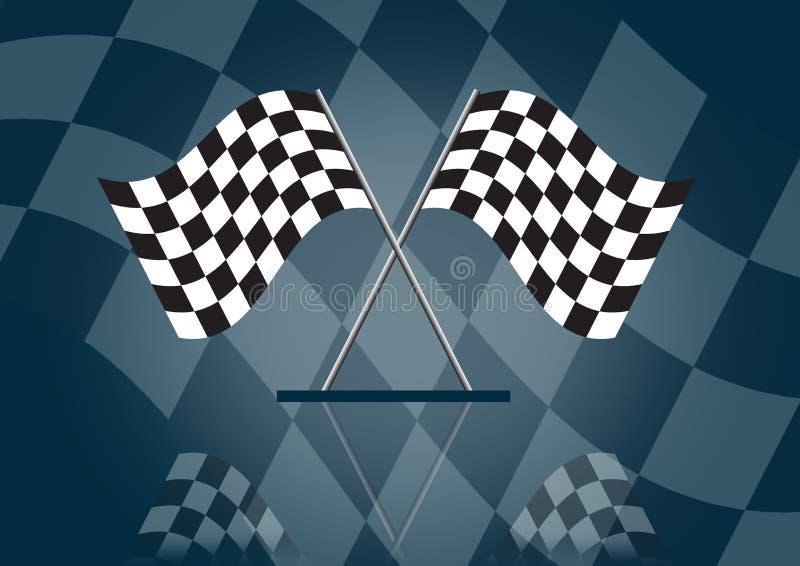Formula 1 che corre bandierina illustrazione di stock