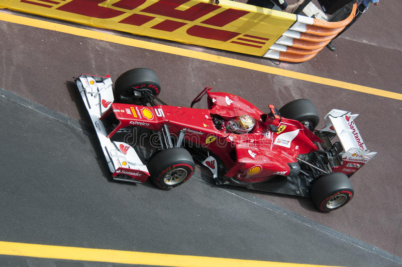 Formula 1 Monaco Grand Prix Alonso royalty free stock photos