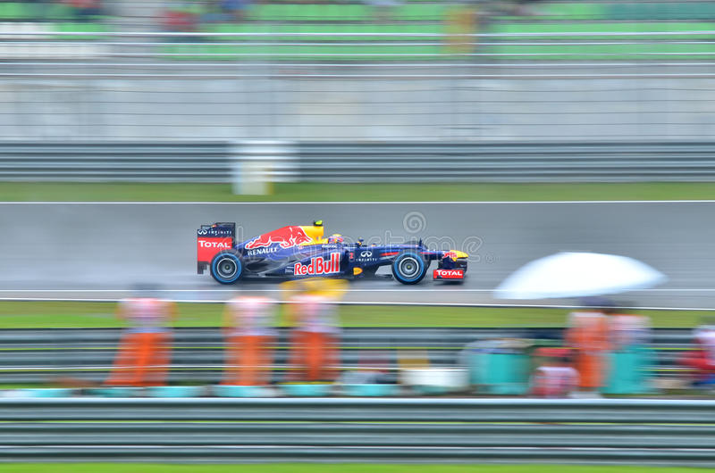 Formula 1, Sebastian Vettel, team Red Bull stock photography