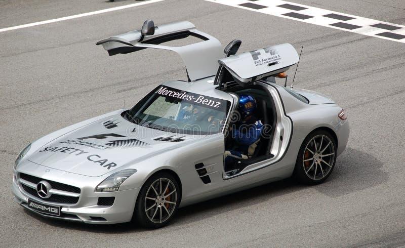 Formula 1 Sepang 2010 - automobile di sicurezza immagine stock libera da diritti