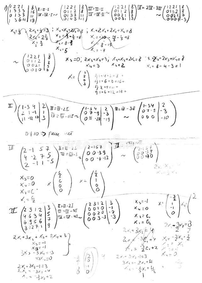 Formula immagini stock