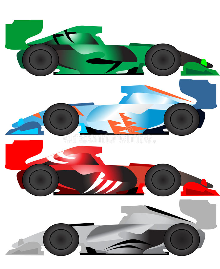 Formula car illustration stock illustration