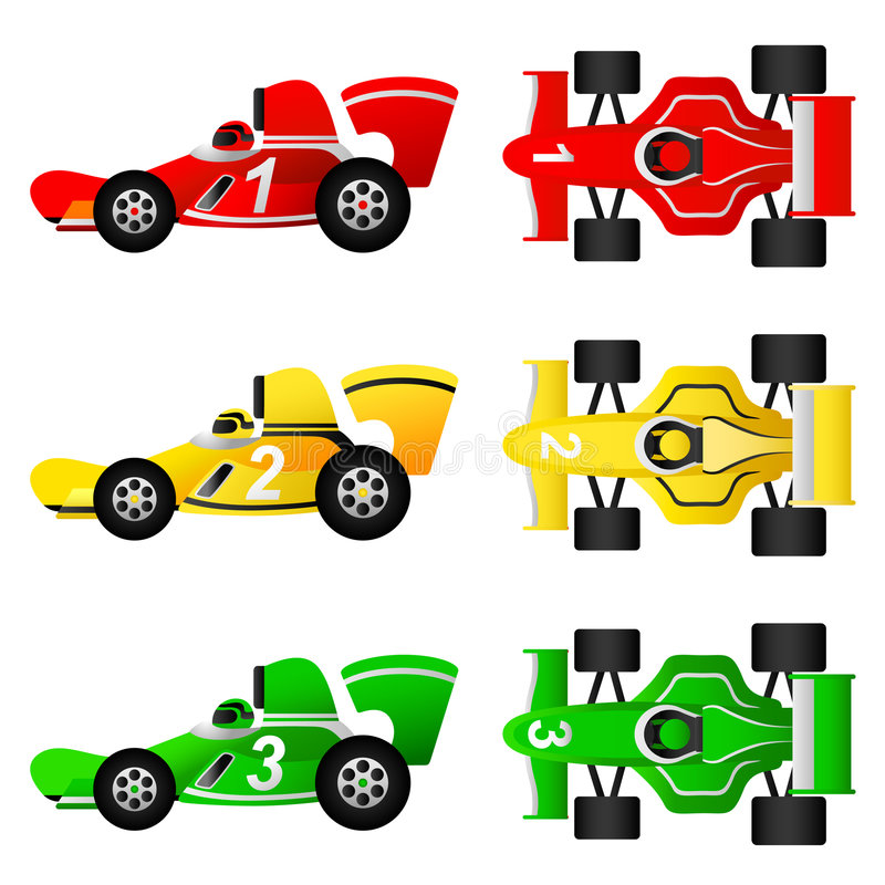 Formula cars vector royalty free illustration