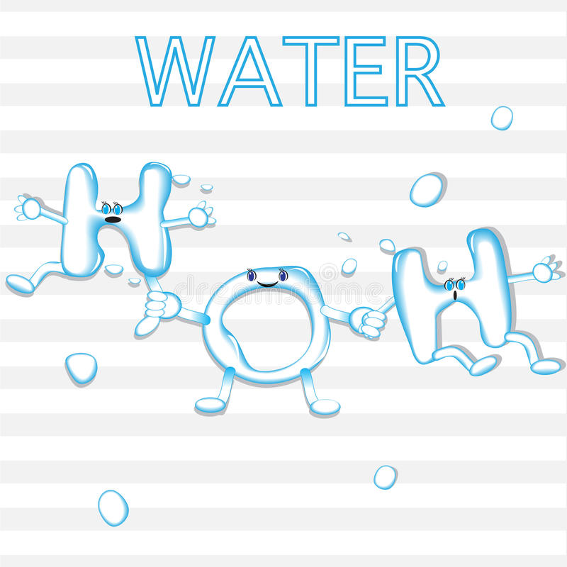 Formula chimica di acqua fotografia stock