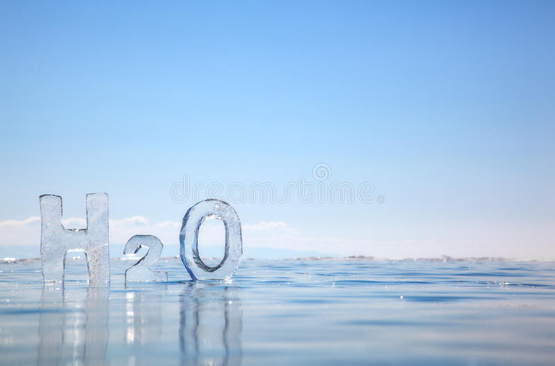 Formula chimica di acqua H2O immagine stock libera da diritti