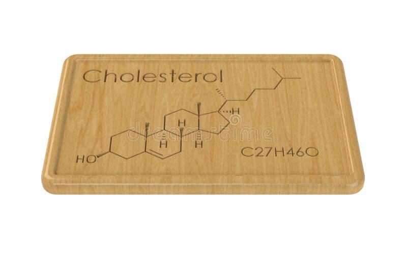 Formula chimica di colesterolo illustrazione vettoriale