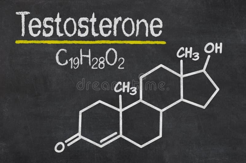 Formula chimica di testosterone fotografia stock libera da diritti