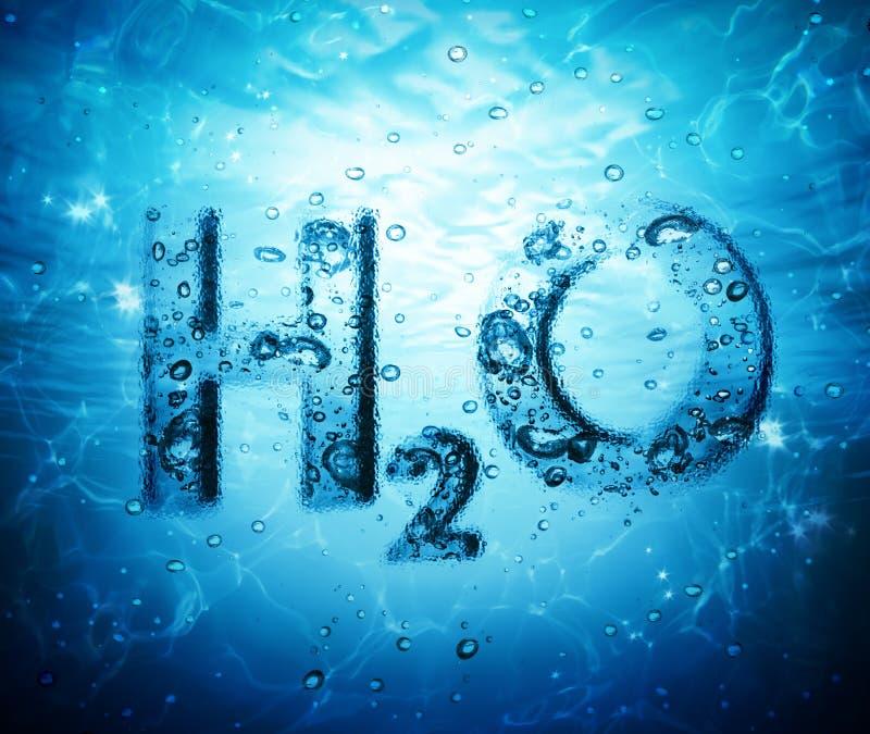 Formula dell'acqua fotografia stock libera da diritti