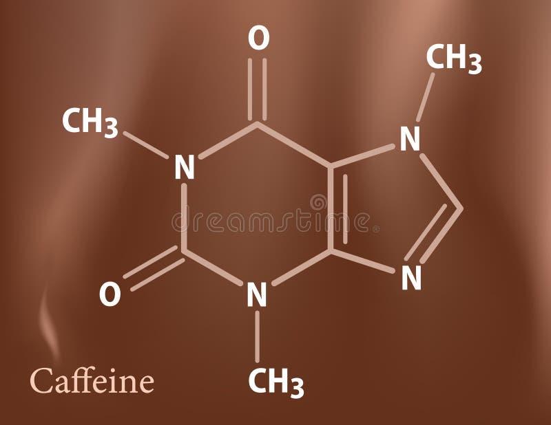 Formula della caffeina illustrazione vettoriale