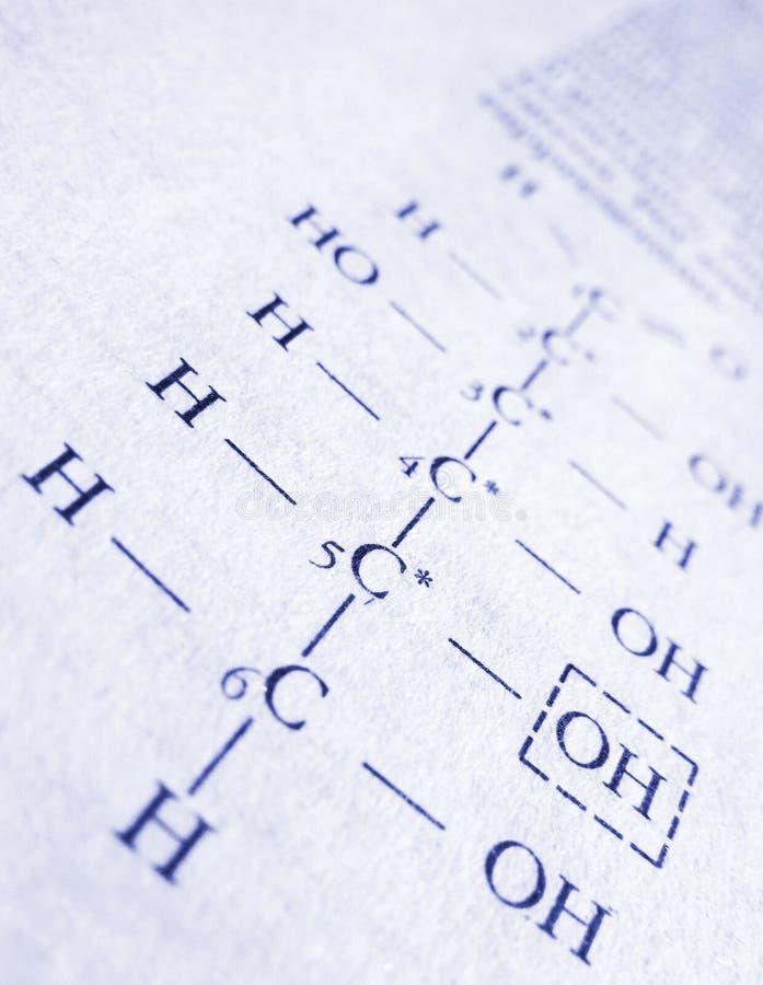 Formula di chimica fotografie stock libere da diritti